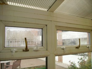 misted conservatory windows